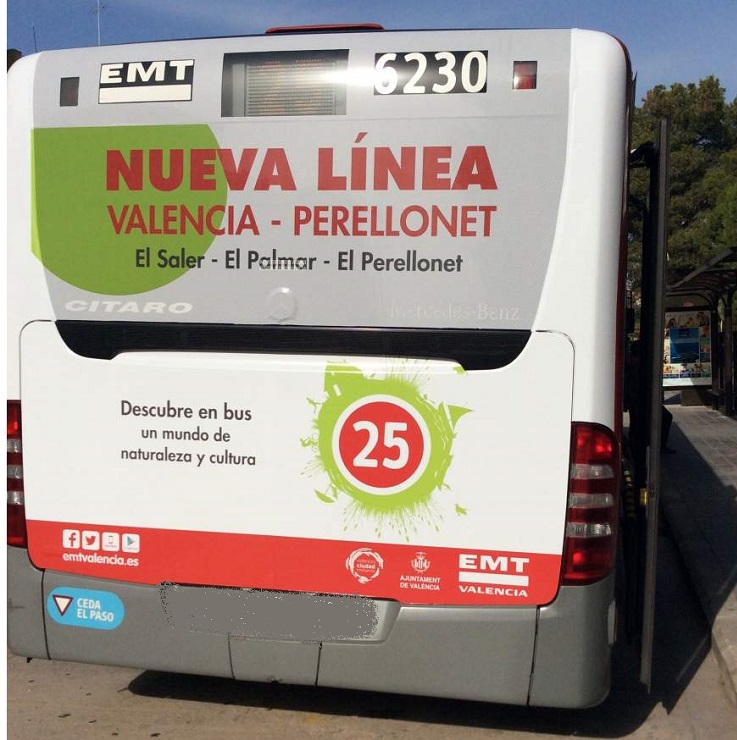 Nueva linea 25 de la EMT llega hasta El Palmar